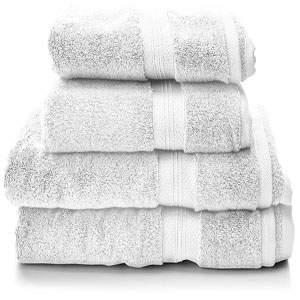 Juego de toallas alta calidad algodon 100 por 100 pima blancas
