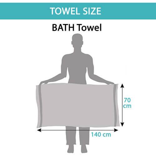 Toallas de ducha tamaño 70x140 cm