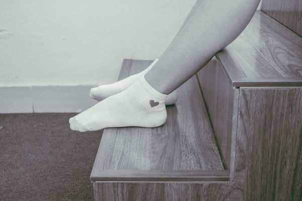 calcetines blancos algodon mujer