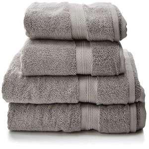 set de baño algodon pima alta calidad platino