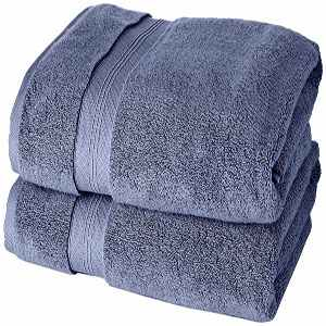 toalla de baño grande alta calidad azulon en algodon pima
