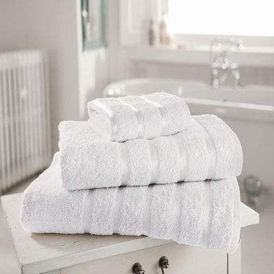 toallas Royal Kensington para baño blanca