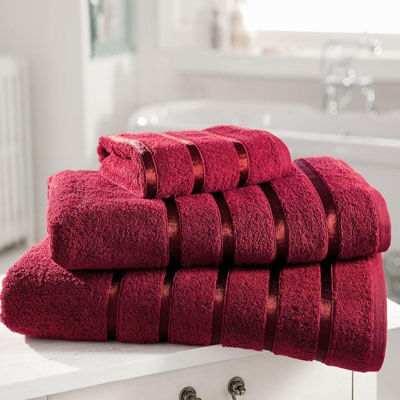 toalla de lujo Royal Kensington para baño roja