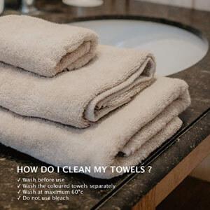 Toallas para baño algodón ecológica color beige
